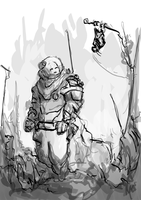 First contact - Lunch Sketch by SPartanen