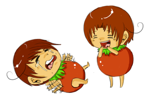 Tomato Brothers by SuperHeroPattyFatty