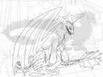 Madness of the Full Moon lineart by ShardianofWhiteFire