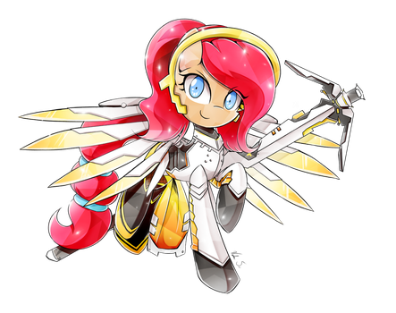 Commission - Bloom [Mercy Cosplay] (PiePinkie350) by Banzatou