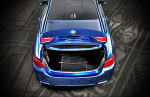 BMW M4 with open car trunk by Artsoni3D
