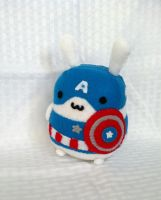 Fat Bunny Cosplaying Captain America by PinkChocolate14