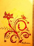 abstract flowers and butterfly by shiviumeshh