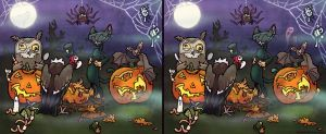 Pumpkin Carving Contest - Spot the Difference by WonderDookie
