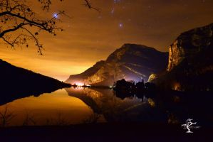 The valley of the lake Toblino by Yagoryo