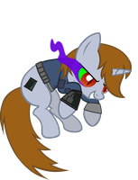 Littlepip jumped evil by aborrozakale