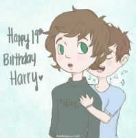 1D: Harry's 19th. by spiderweb-heart