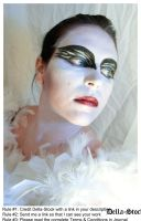 Black Swan FacePaint.8 by Della-Stock