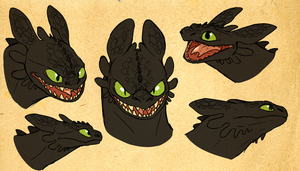 toothless shetches by Goldnight13