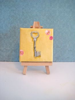 Vintage Key - Mini Painting by crucifiedcondios