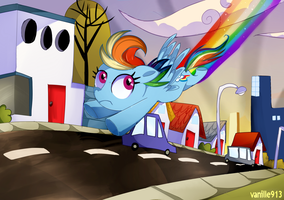 Double Rainboom-The City of Townsville by vanille913