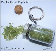 Peridot Potion Keychain by 1337-Art