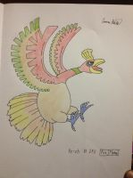 December 24, Favorite Pokemon Design: Ho-Oh by mashonem