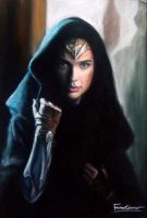 WonderWoman pastel drawing by Fawn Corner by FawnCorner