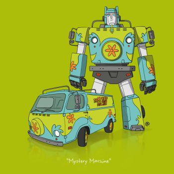 If They Could Transform - Mystery Machine by darrenrawlings