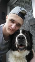 Me and my Dog :) by Hardii