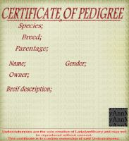 Certificate Of Pedigree by LadyAnnMisery