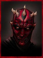 Darth Maul by Wadjit colored by bigMdesign by bigMdesign