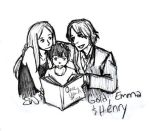 Henry, Emma, and Mr. Gold by AllenLenalee