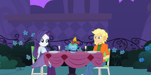 AJ and Rarity's dinner date by hectorcabz