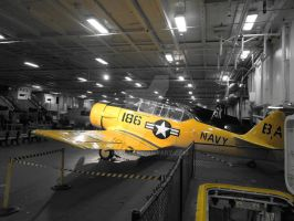 Tour in USS Midway - Yellow Toy by eskici