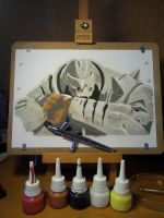 alphonse elric airbrush by rezy16