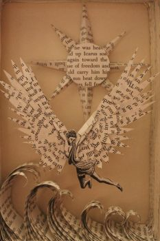 Icarus Book Sculpture by wetcanvas
