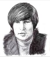 John Lennon Sketch by UncleHappy5