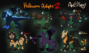 Discounted Halloween Adoptables CLOSED by SpytDragonFyre