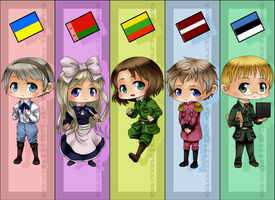 APH - Baltics bookmarks by Momiji95