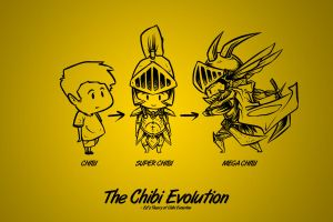 Chibi Evolution by EdlouieArts