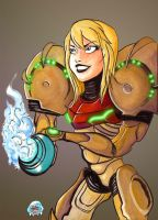 Cheery Samus by Superdooperman