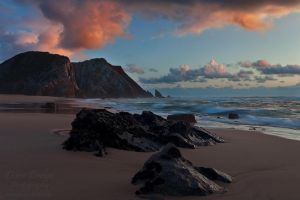 Twilight Beach by Dave-Derbis