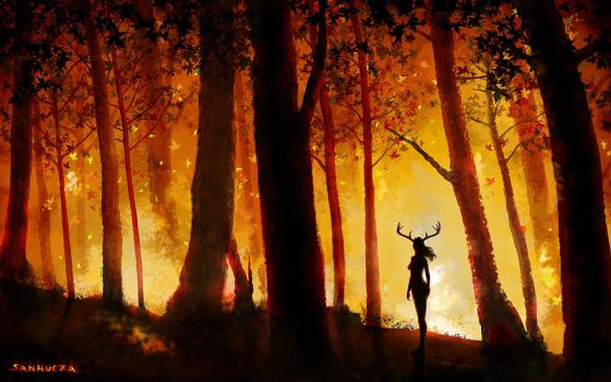 Forest Fire by TheArtOfSanhueza