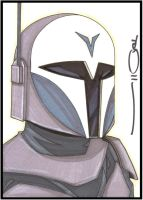 Clone Wars Female Mando 5 x 7 by NORVANDELL
