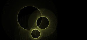 Space LIFE 009: 3 Line Circle Things by MadamSteamfunk