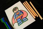 Lego SuperMan (color) by rickTHEKIDperil