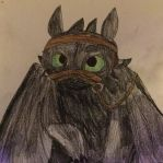 HTTYD: Toothless Wearing a Bridle by TealWolfTreasure991
