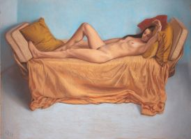 Pastel Life Drawing 01 by LordSnooty
