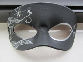 Black Mask with silver design by maskedzone