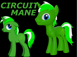 Circuit Mane updated Garrysmod pony by LunarGuardWhoof