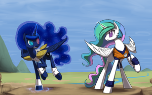 Pony Ball Z: Sisters divided!  Celestia v.s. Luna! by Dreatos