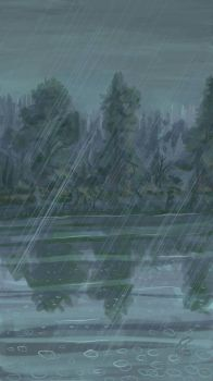 Summer rain over the swamp by Griatch-art
