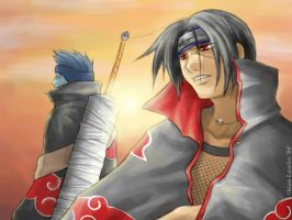 Naruto: Itachi and Kisame by clingwrap