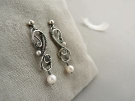Melody silver earrings by UrsulaOT