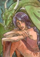 ACEO - Io's Contemplation by AngelaSasser