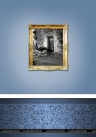 light blue home wall paper by razangraphics