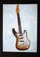 My dads guitar by Mikla-9