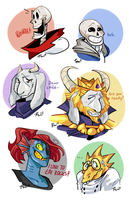 our friends (UNDERTALE ASK BLOG!!) by bPAVLICA