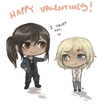 Happy Valentines from Selena and Peli! by AnneDyari